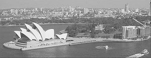 View from Sydney Harbour Bridge - Opera House in foreground